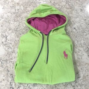 Ralph Lauren lime green hoodie